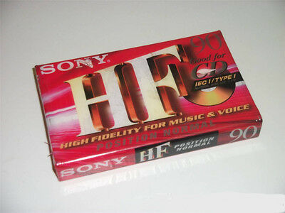 Cassettes audio Sony HF 90 minutes