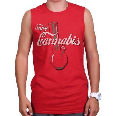 420 Marijuana Stoner Weed Pot Joint Novelty Sleeveless T Shirts Tees Tshirts