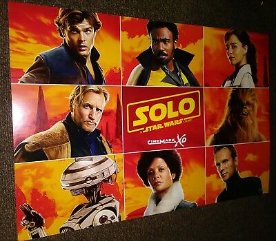 SOLO A STAR WARS STORY 13 in X 19 in Original Promotional Cinemark Movie Poster