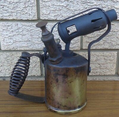 Vintage Radius Brass Blow Torch, Made In Sweden.  Collectible.  Old Tools
