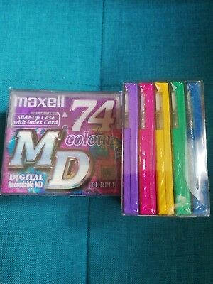 Maxell mini disc 74 colour 10 st.