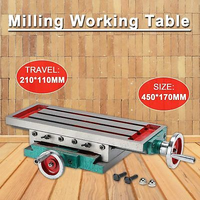 2 Axis Adjustable Work Table Vise For Bench Drill Milling Machine Multi-function