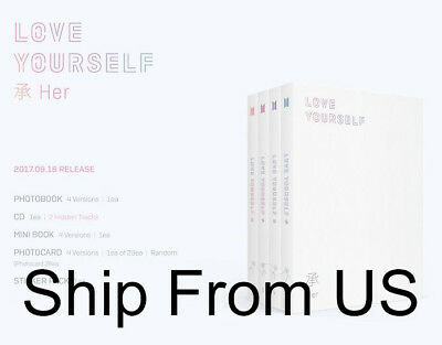 BTS LOVE YOURSELF 承 'HER,' 5th Mini Album K POP Music Ship From US