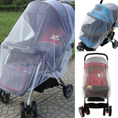 Stroller Pushchair Pram Mosquito Fly Insect Net Mesh Buggy Cover Infant Baby dr