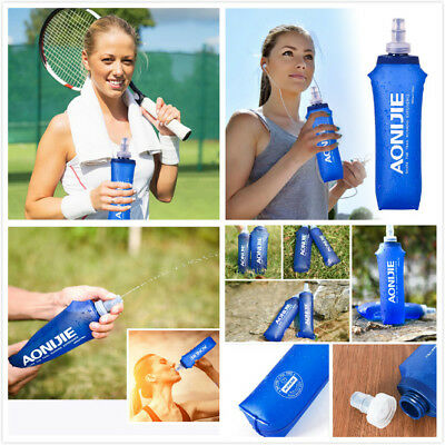 AONIJIE Soft Collapsible Foldable Water Bag Bottle Kettle Cup Flask 250/500ml KY