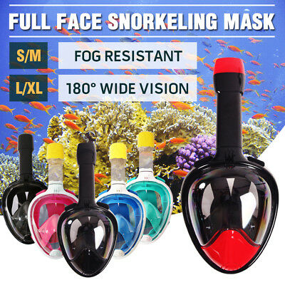 Full Face Snorkeling Snorkel Mask Diving Scuba Goggles Breather Pipe For GoPro