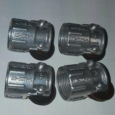 x4 Amphenol Mil-Spec Circular Connector Strain Relief AN-3057-6 (New Old Stock)