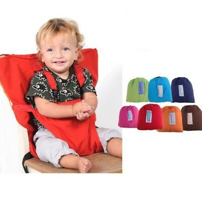 UK Baby Feeding Seat High Chair Portable Travel Infant Sacking Safety Seat Belt
