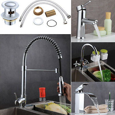 Modern Basin Mixer Taps Chrome Small Sink Mono Luxury Waterfall
