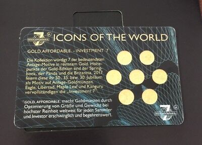 Icons of the World Investment 7 Gold 1/200oz