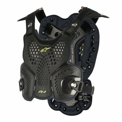Alpinestars A-1 Motocross Brustpanzer 2018 black/grey MX Roost Guard A1 Enduro