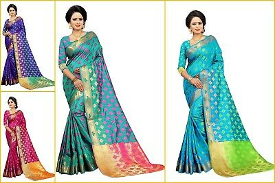 New Indian Designer Fancy Tussar silk Saree Ethnic Festival Trendy Top Sell sari