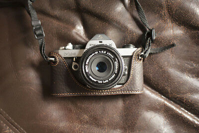 Handmade Genuine Real Leather Half Camera Case Bag Cover for Pentax MX