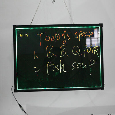 Illuminated Erasable Neon Light LED Menu Message Sign Wirting Board 80*60cm US