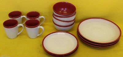 Red Denby Dinner Set  ##RUFTS11SE