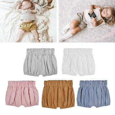 1PC Baby Boy Girls Cotton Shorts Infant Ruffle Bloomers Toddler Summer Panties