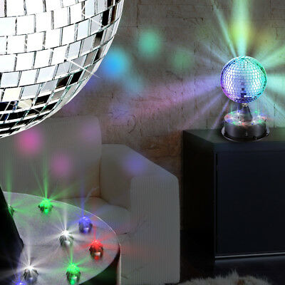 MIA Light Spiegel Disco Kugel RGB/ LED/ Kinder/ Chrom/ Disko Lampe Licht Party T