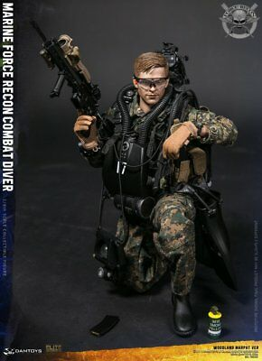 DAMTOYS 1 6 Marine Force Recon Combat Diver Woodland Marpat NO.78055  SetNEW01 4c44567bb
