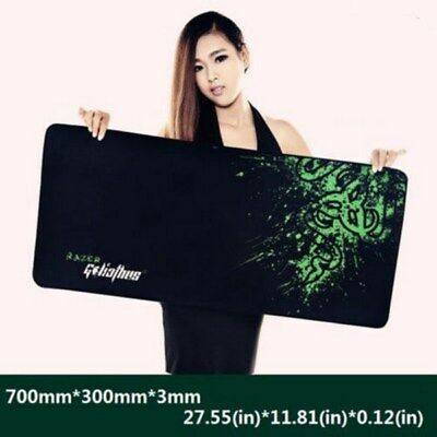 Extended Gaming Large Mouse Pad 700x300mm Big Size Desk Mat Black & Green AU