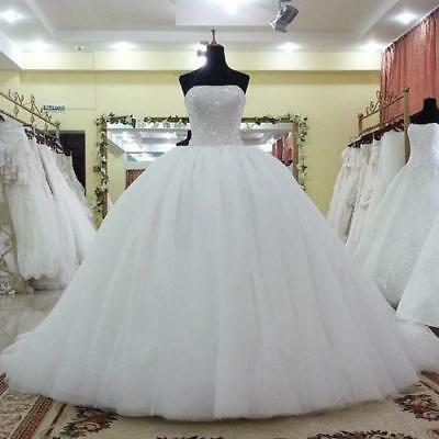 New Beaded Ball Gowns Tulle Quinceanera Dress Prom Long Princess Bridal Gowns