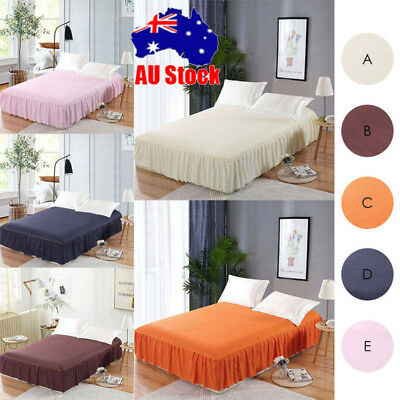 High-quality Fabrics Elastic Bed Skirt Ruffle Bed Cover For Queen Bed AU Store