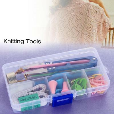 DIY Knitting Accessories Supply Magic Weaving Knit Basic Tools Case Box Set GL