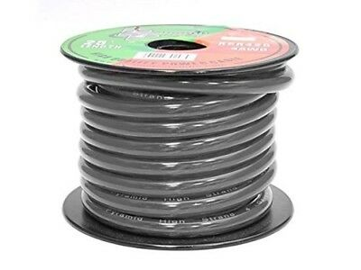Pyramid RPB425 4 Gauge 25 Feet Ground Wire OFC (Black)