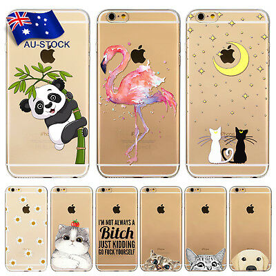 Phone Case For Apple iPhone 6 6S Thin Clear TPU Case Cover Free Screen Protector