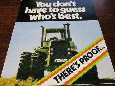 Steiger ST-325 Panther III Tractor Comparison Brochure 1979