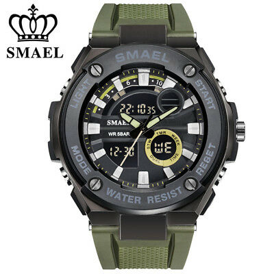 SMAEL Men Watch Digital Electronic Wristwatch Shock Resistant Sport LED Watches