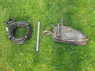 Tirfor winch 30 CWT / 1500kg SWL complete with cable. Good usable condition.
