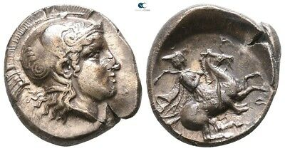 Savoca Coins Thessaly Pharsalos Drachm Athena Horseman 5,26 g / 17 mm !GSP12269