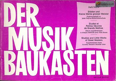 Studies & Little Works Great Masters Book 4 For Descant Recorder 1981 Mozart