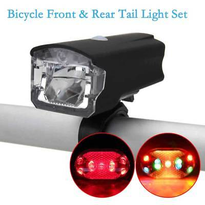 Bicycle Front & Rear Tail Red Lamp Kit LED Head Light MTB Bike USB Rechargeable