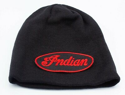 Indian Vintage beanie motorbike motorcycle Embroidered Patch