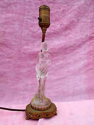 Fine Period Art Deco American Glass Figure Table Lamp Perfect Condition Wiring Database Numdin4X4Andersnl