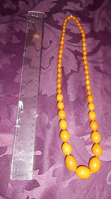 Amber Necklace In Beads Of Various Sizes - Guenuine And Tested