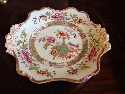 """Antique  J Ridgway Auckland Pattern Imperial Stone China Plate 10 1/4"""""""