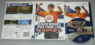 Tiger Woods PGA Tour 09 All-Play - Nintendo Wii Game - PAL - with manual