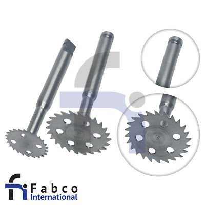Set of 2pcs Dental Implant Saw Disk Cutting Tool 7mm 10mm 0.3mm Disk Latch Type