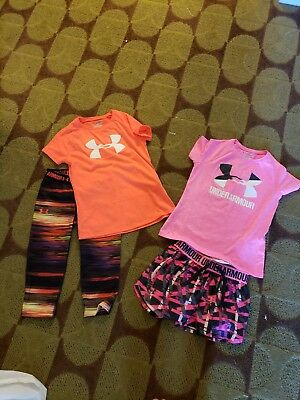 Girls Under Armour Lot Size Youth Small- Wore Once- No STAINS Perfect Match HTF