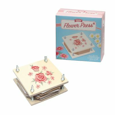 Retro Flower Press - Wd194 Wooden Fun Kids Colourful Toy Kit Set Flowers Pressed