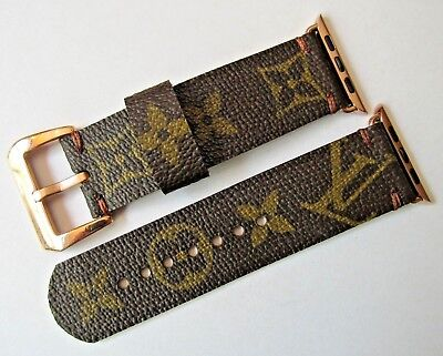 42 Mm Apple Watch Strap/band Handmade From Louis Vuitton Lv Monogram Material