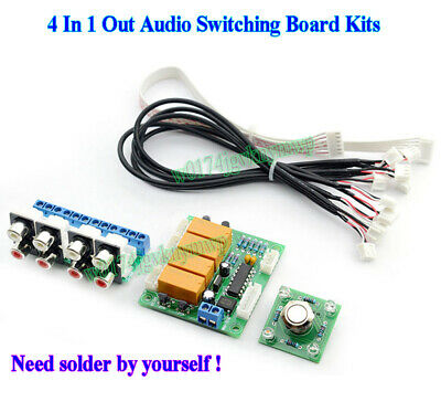 Audio Switching Board Kits 4 In 1 Out Audio Signal Selection Board Module Kits
