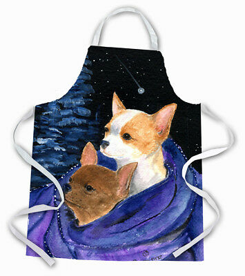 Carolines Treasures  SS8513APRON Starry Night Chihuahua Apron