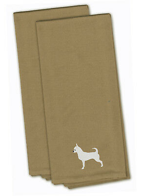Chihuahua Tan Embroidered Kitchen Towel Set of 2