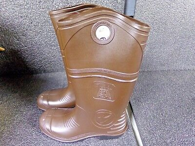 "ONGUARD 12""H Men's Boots, Steel Toe, PVC Upper Material, Brown, Size 9 (EF)"
