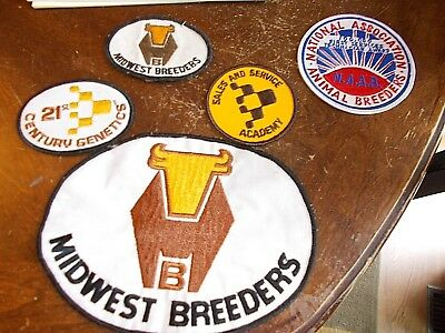 lot vintage breeding patches Midwest breeders NAAB techician barn service cards