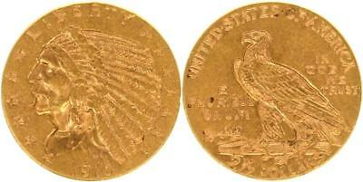 USA 2 1/2 Dollars 1915 - Indian Head - vz - GOLD