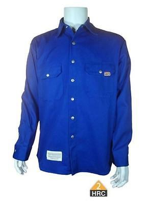Brand New! InsulTech FR Long Sleeve Welder Shirt-HRC 2 with snaps -ROYAL BLUE
